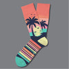 Two Left Feet® Caribbean Sunset Everyday Socks