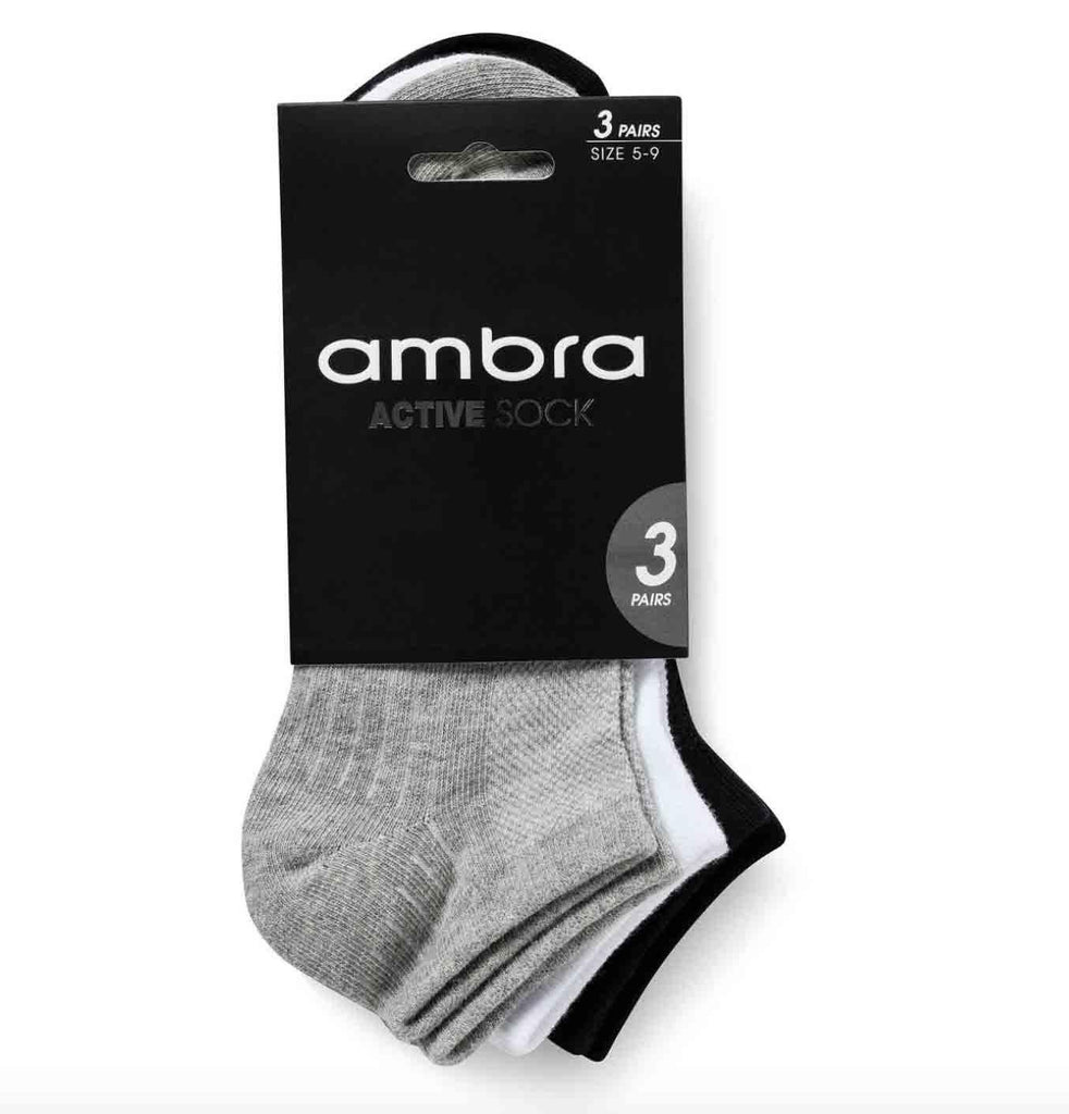Ambra Active Socks - 3 pack