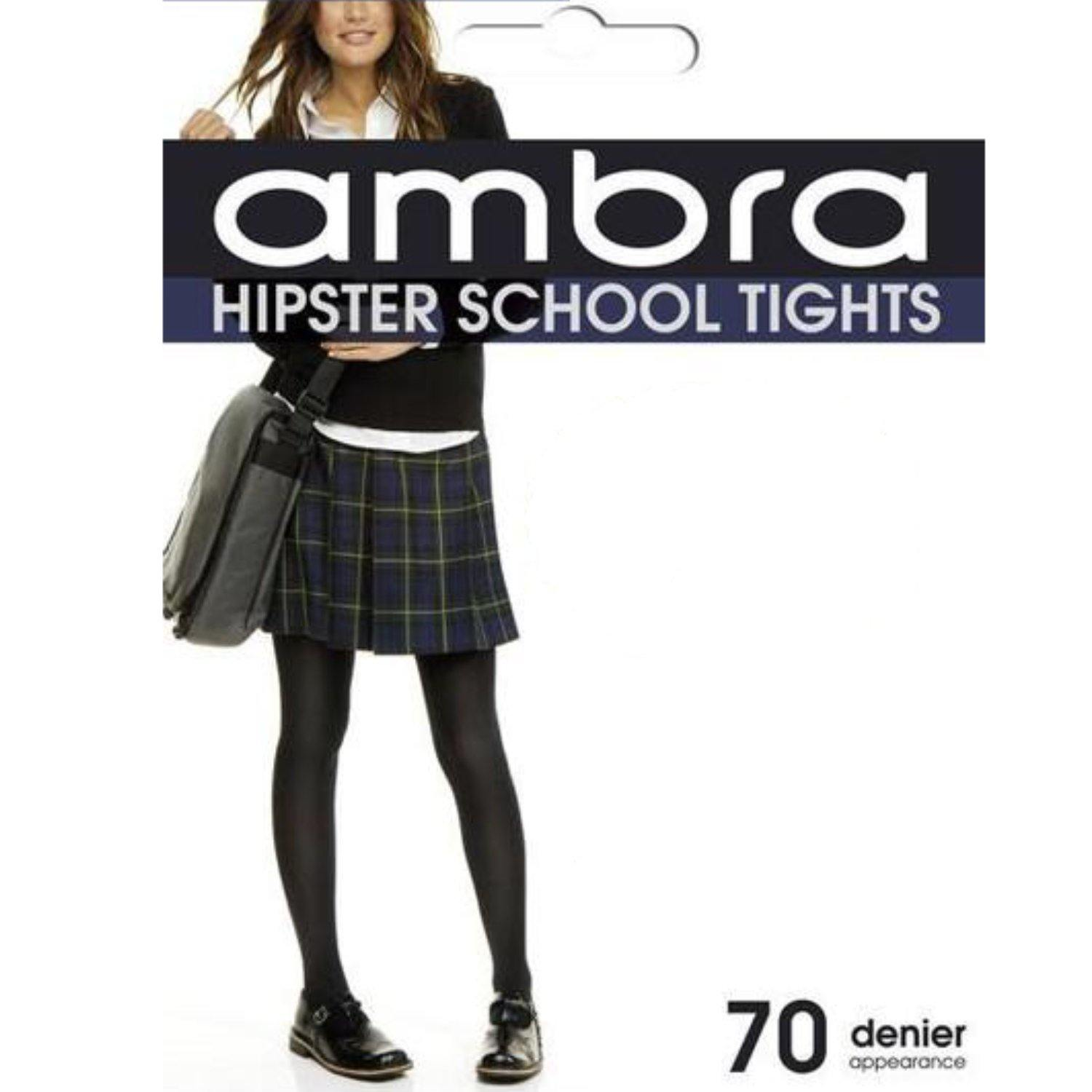 Ambra Hipster School Tights - 70 Denier
