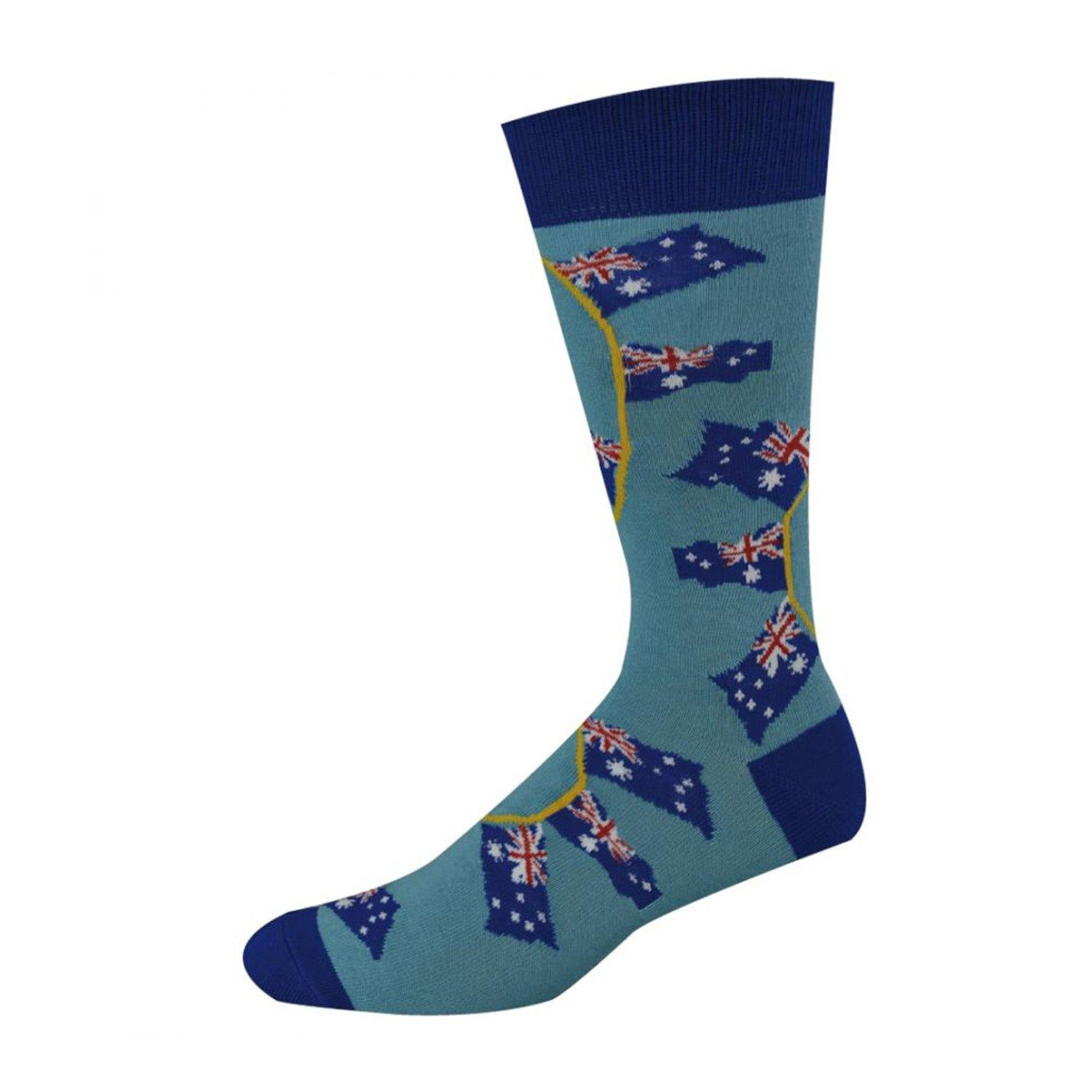 Bamboozld Men's Aussie Flags Socks