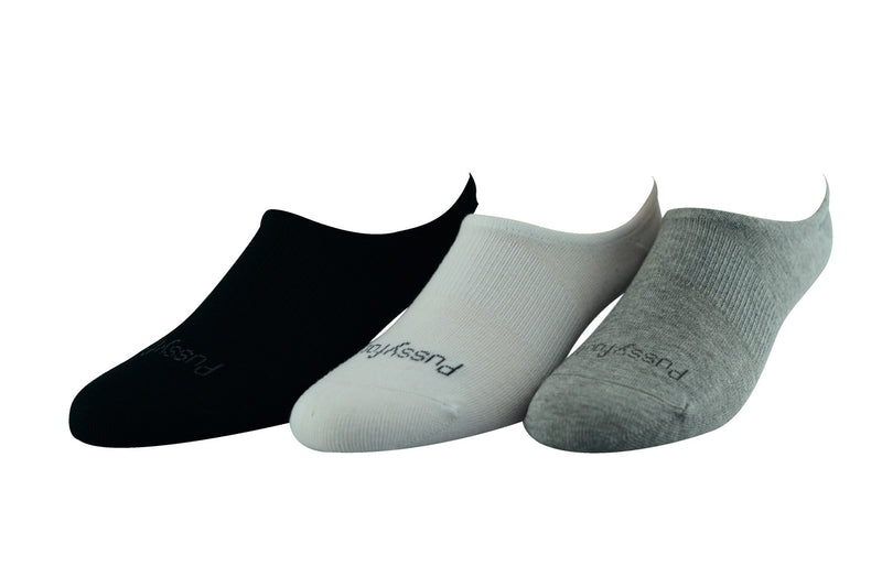 Pussyfoot Men's Bamboo Invisible - 3 Pack