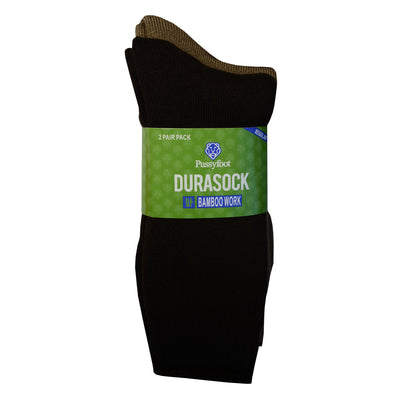 Pussyfoot Bamboo Work Socks - 2 pack Brown/Taupe