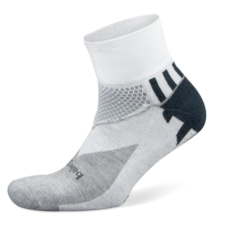 Balega Enduro V-tech Quarter Crew - White/Grey