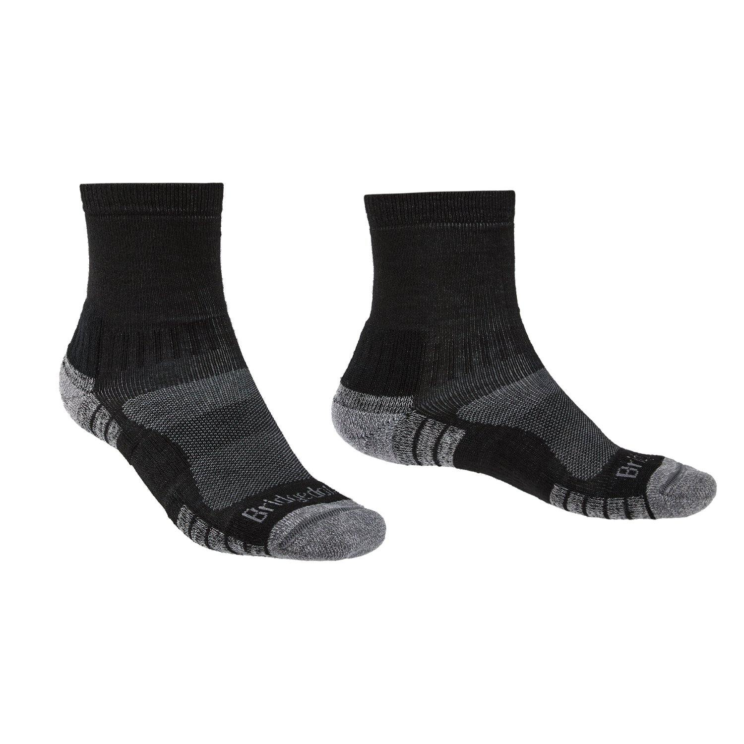 Bridgedale MERINO HIKE Mini-Crew Socks (Lightweight Black)