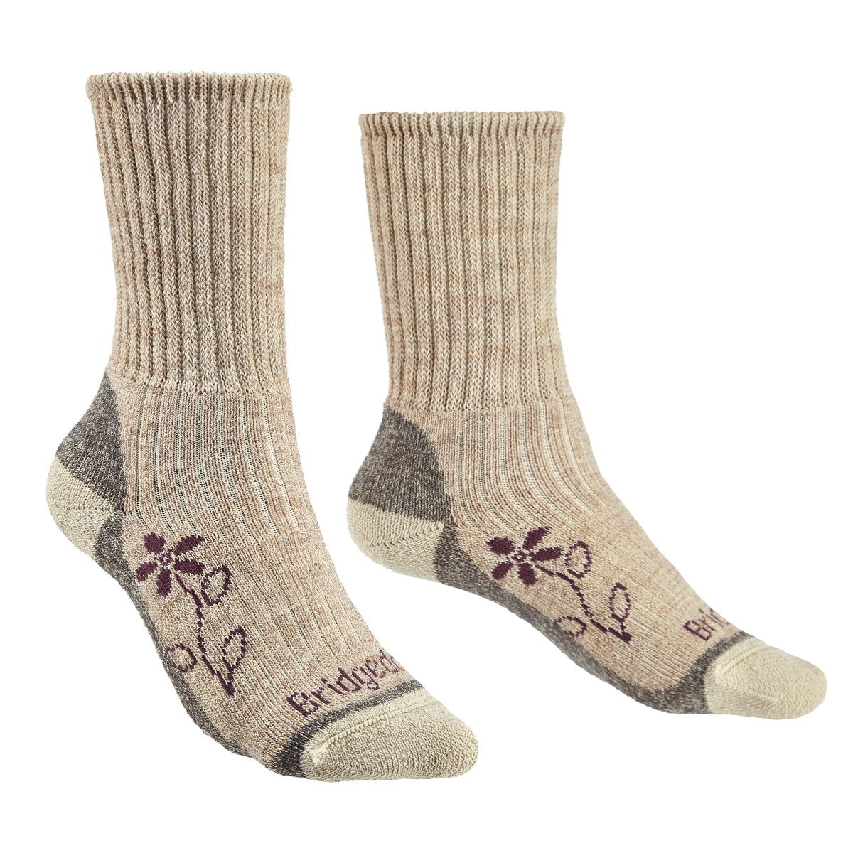 Bridgedale Women's MERINO HIKE Comfort Socks (Midweight Natural)