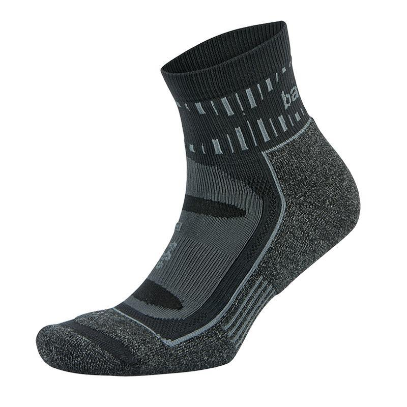 Balega Blister Resist Mini-Crew - Grey/Black