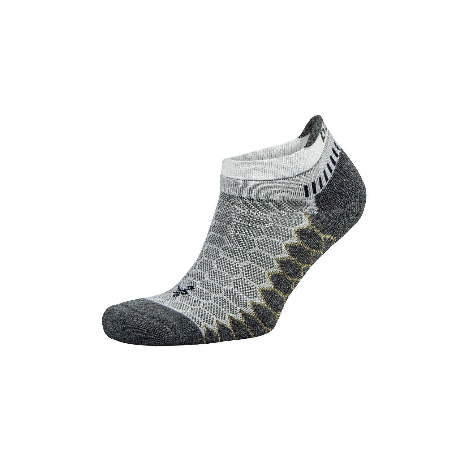 Balega Silver No Show Socks - White/Grey