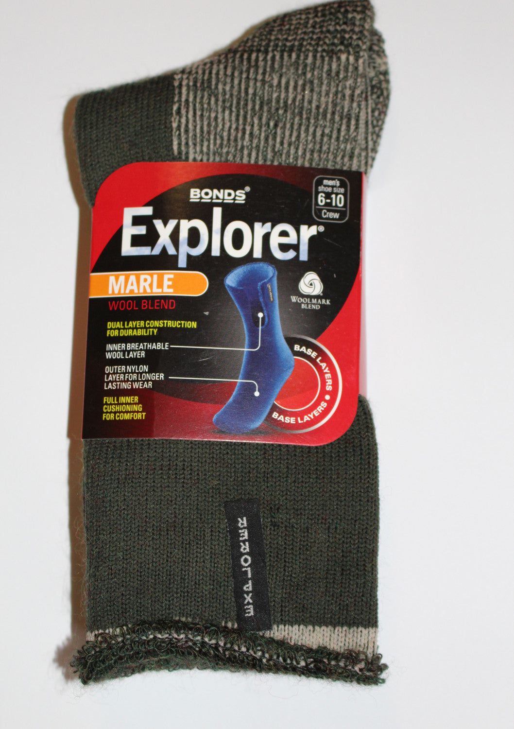 Holeproof Explorer Original Wool Socks (Bottle Green Marle)