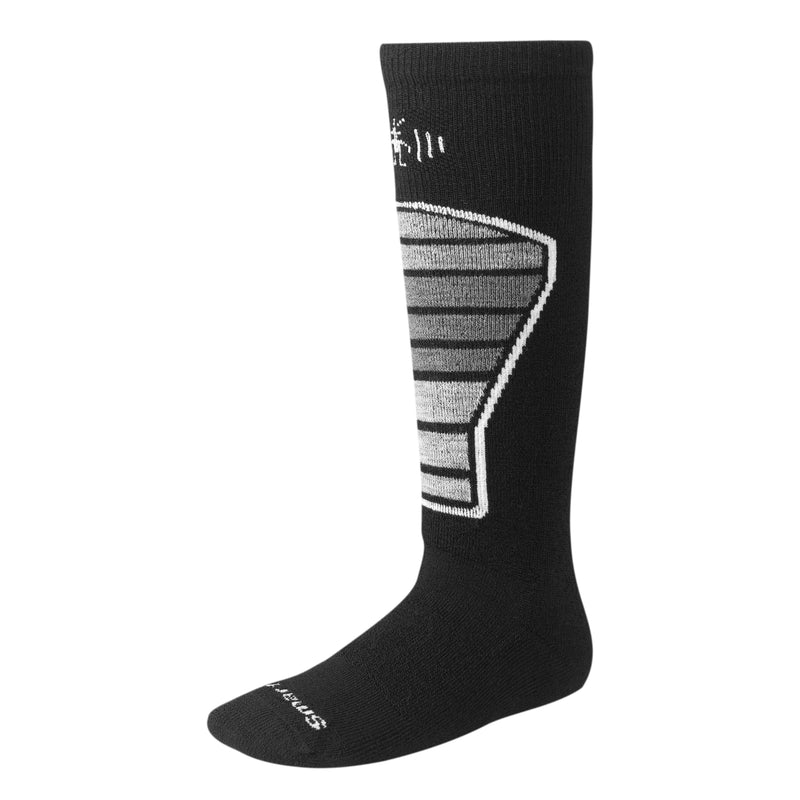 Smartwool Boy's Ski Racer - Black/Grey