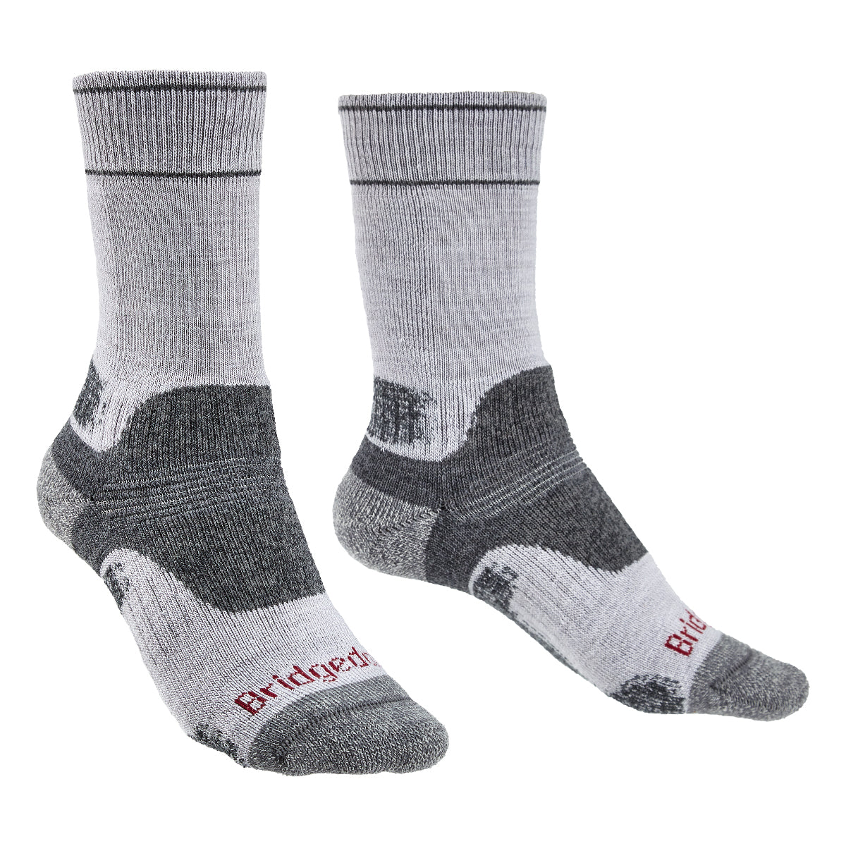 Bridgedale Women's MERINO Performance HIKE Socks (Midweight Grey)