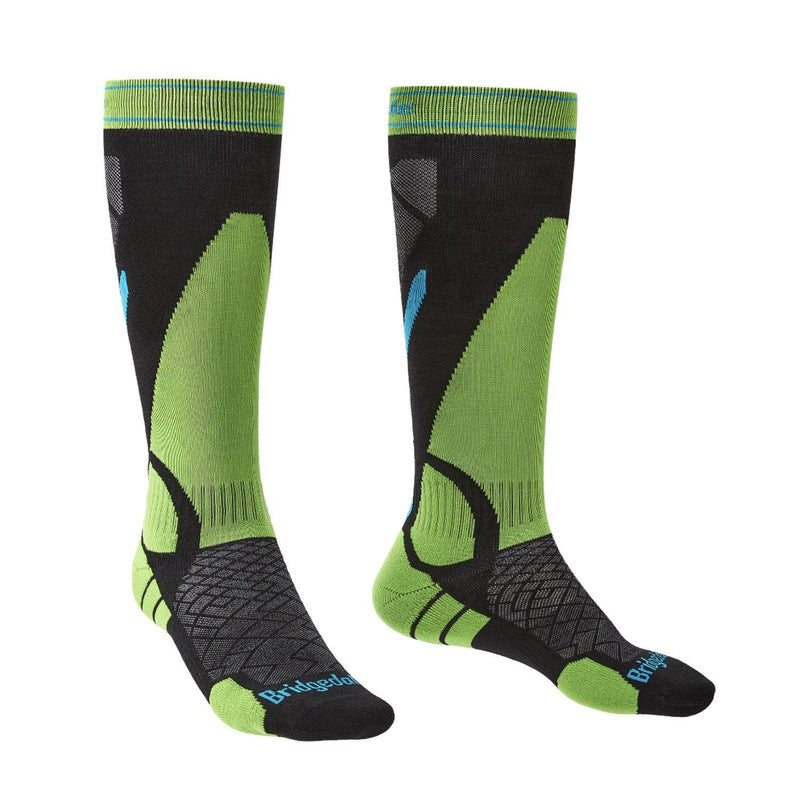Bridgedale Men's MERINO Performance Ski Socks (Green)
