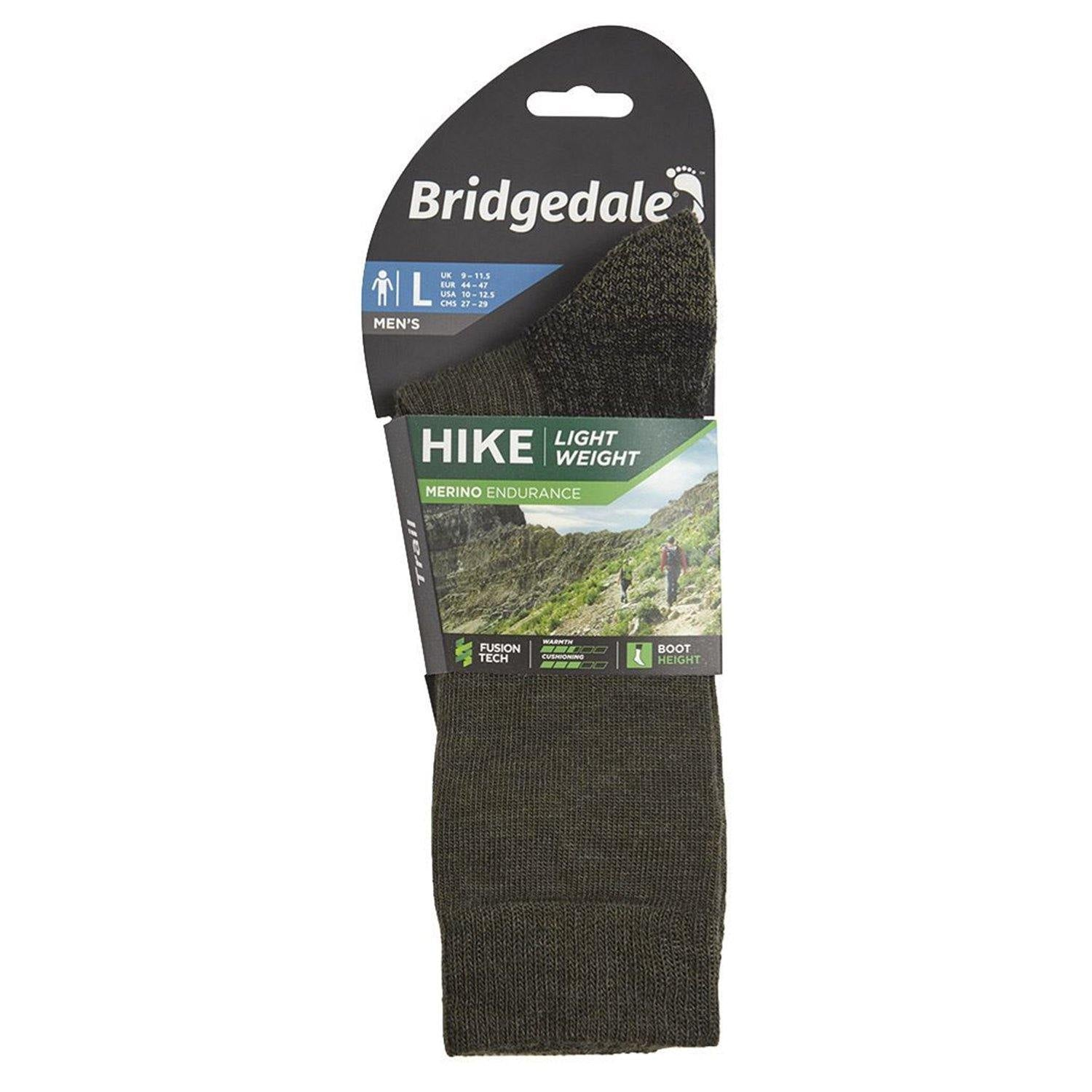 Bridgedale MERINO Performance HIKE Socks (Lightweight Green)