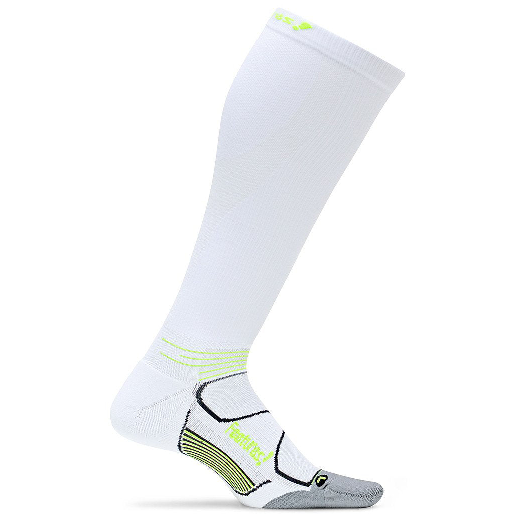 Feetures! Graduated Compression Socks - White