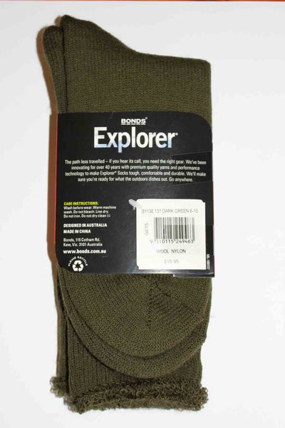 Holeproof Explorer Original Wool Socks (Dark Green)
