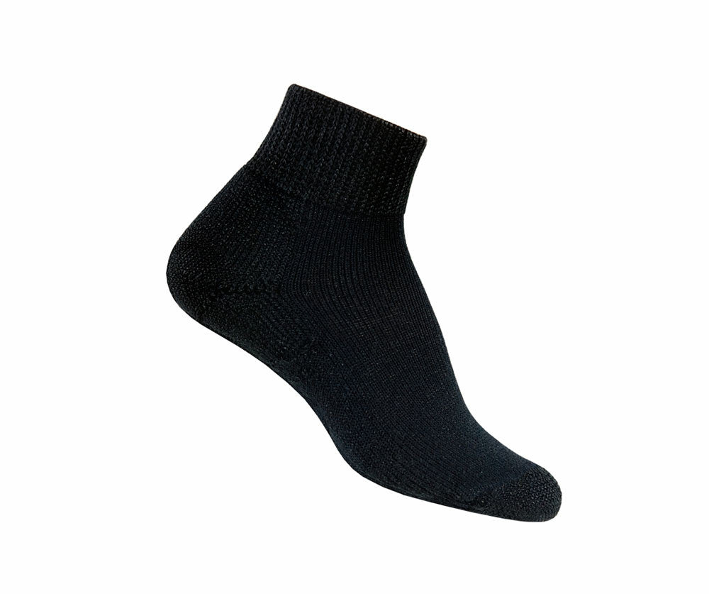 Thorlo Men's Diabetic Socks (Padds) MiniCrew - Black (HPMM)
