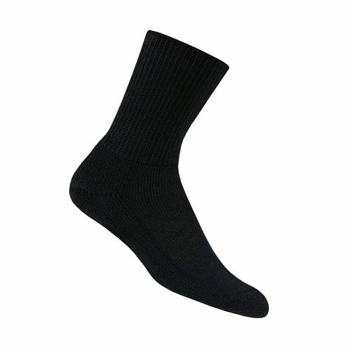 Thorlo Men's Diabetic Socks (Padds) Crew - Black (HPXM)