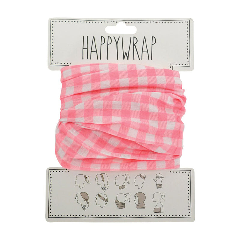 Annabel Trends Happy Wrap - Gingham Pink