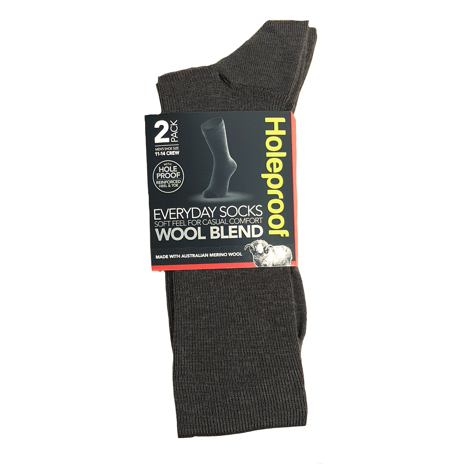 Holeproof Everyday Business Wool Blend 2 Pack - Taupe