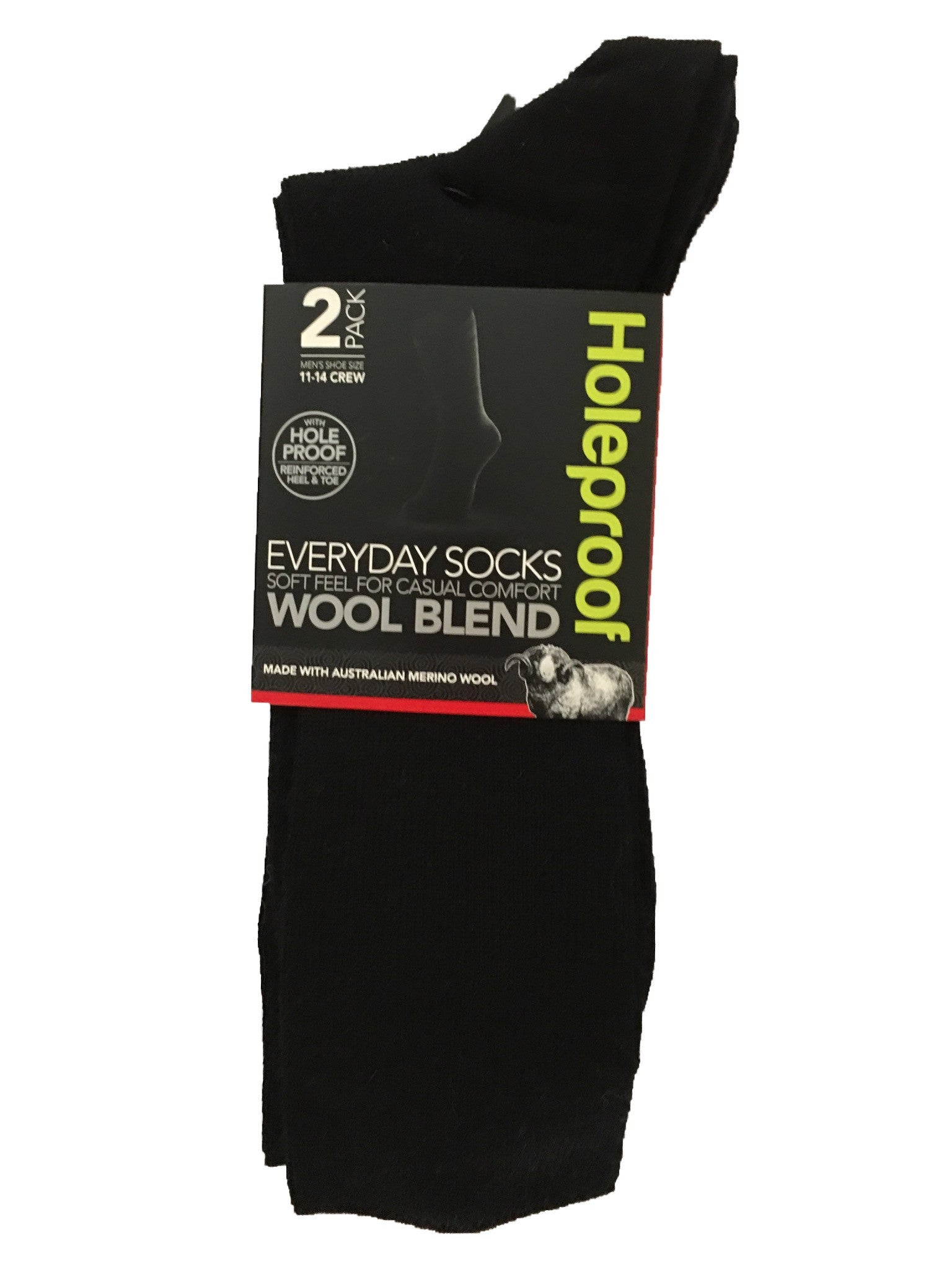 Holeproof Everyday Business Wool Blend 2 Pack
