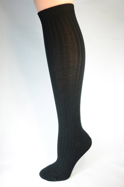Pussyfoot Women's Classic Rib Cashmere Knee High