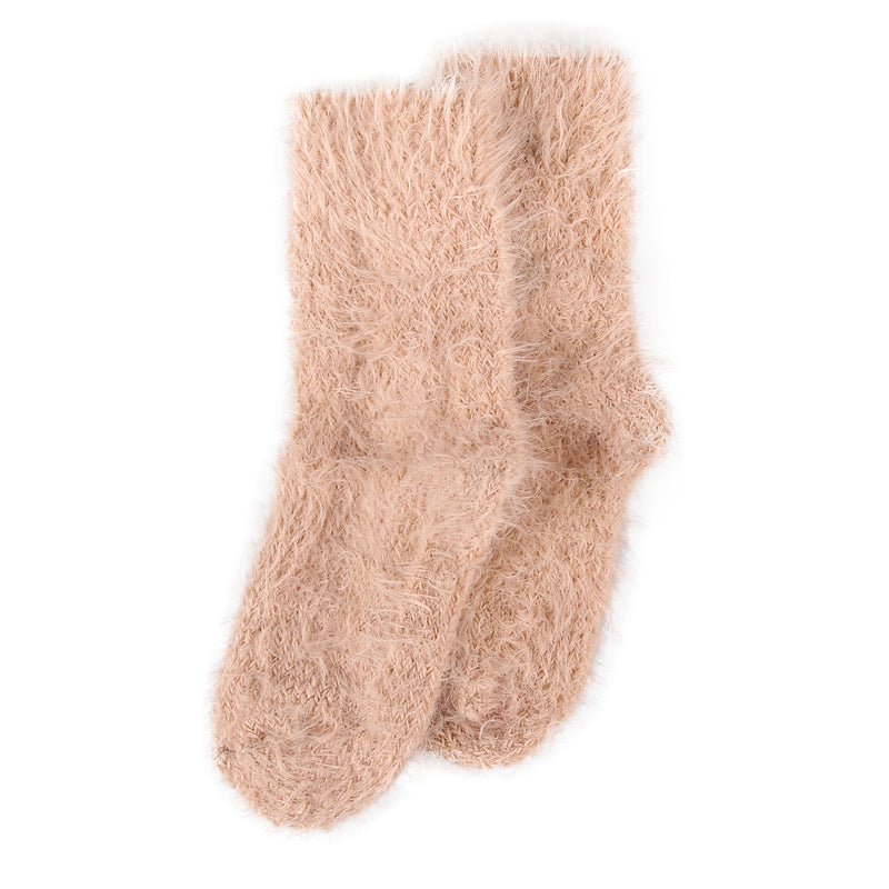 Levante Furry Plush Socks - Shell