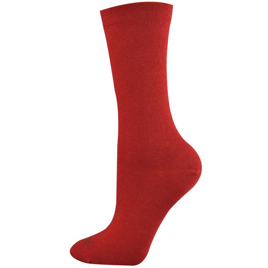 Pussyfoot Women's Non-Tight Merino Socks - Red