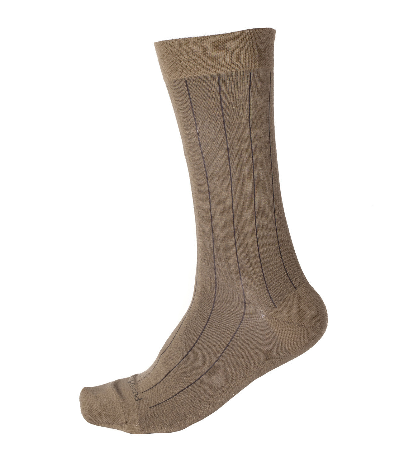 Pussyfoot Non Tight Broad Rib Health Socks - Stone