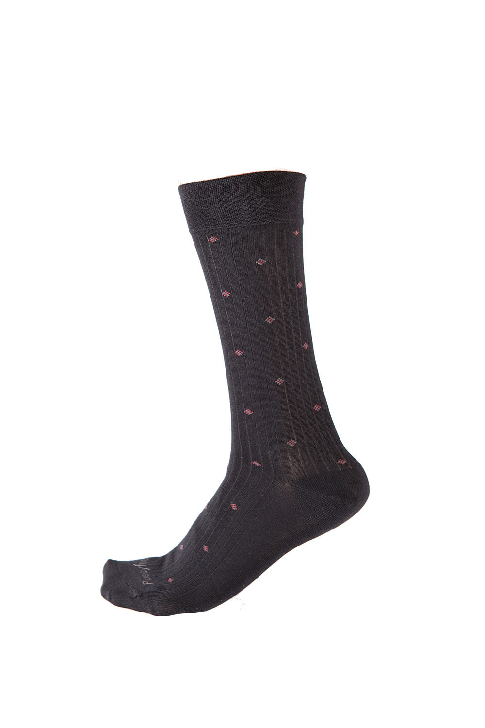 Pussyfoot Non Tight Comfort Health Socks 2 Pack - Black/Red