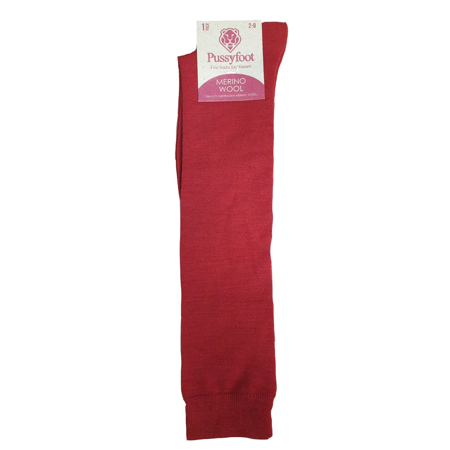 Pussyfoot Women's Merino Knee High - Red