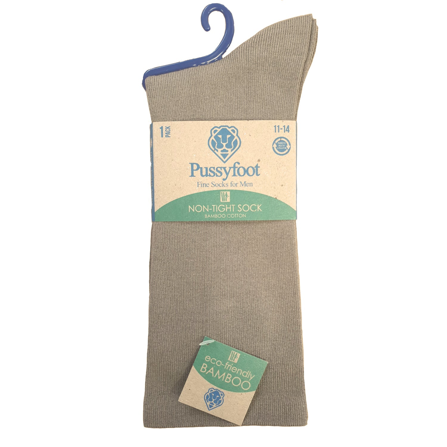 Pussyfoot Non Tight Bamboo/Cotton Health Socks - Stone
