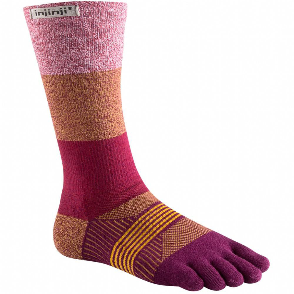 Injinji TRAIL Women's Crew - Pomegranate