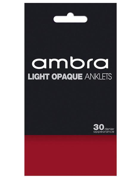 Ambra Light Opaque Anklet - Ruby