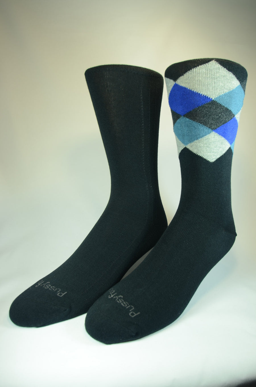 Pussyfoot Non Tight Comfort Health Socks 2 Pack - Argyle