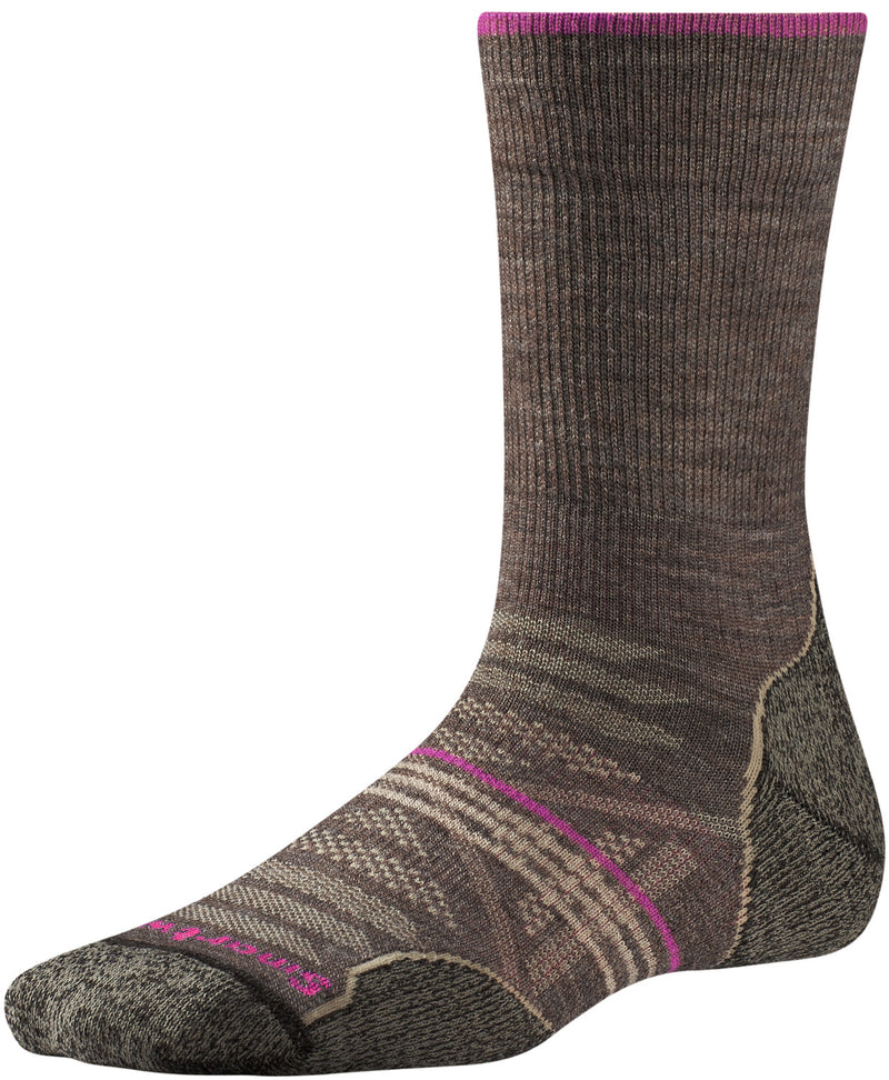 Smartwool Indestructawool™ Women's PhD Outdoor Light Crew Socks - Taupe