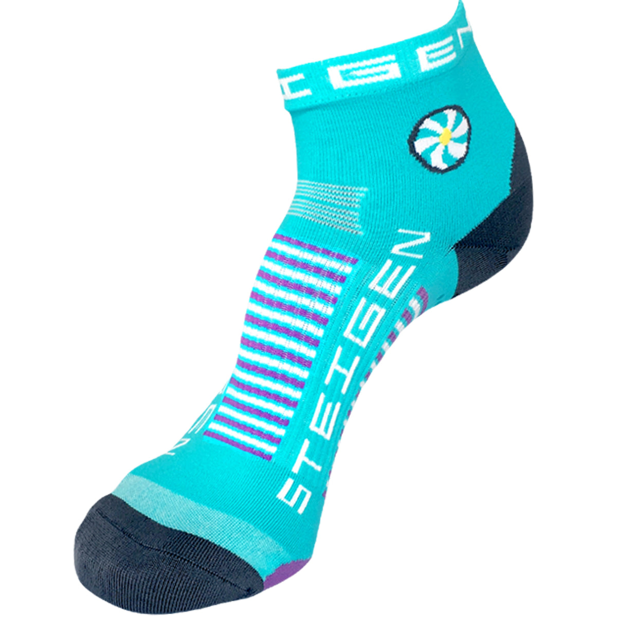 Steigen Pilates Socks - Blue/White