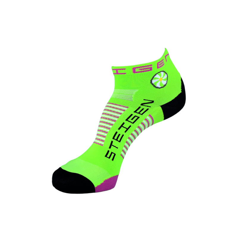 Steigen Running Socks Quarter - Fluro Green 1/4