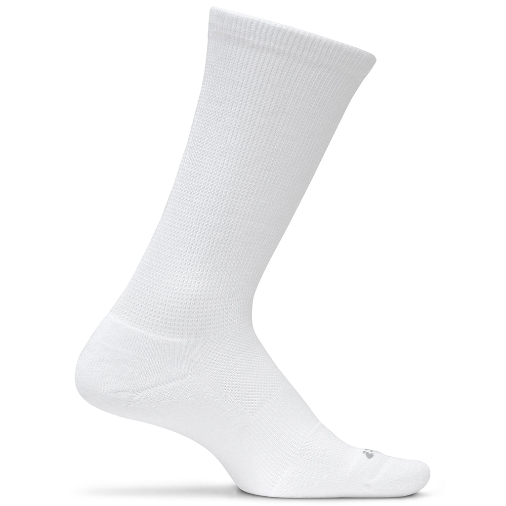 Feetures! Diabetic Active Crew Socks - White