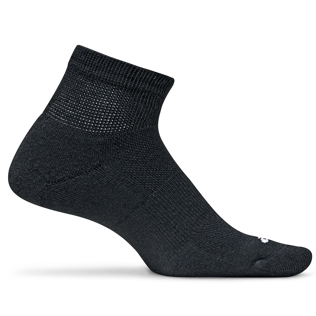Feetures! Diabetic Active Mini Crew Socks - Black