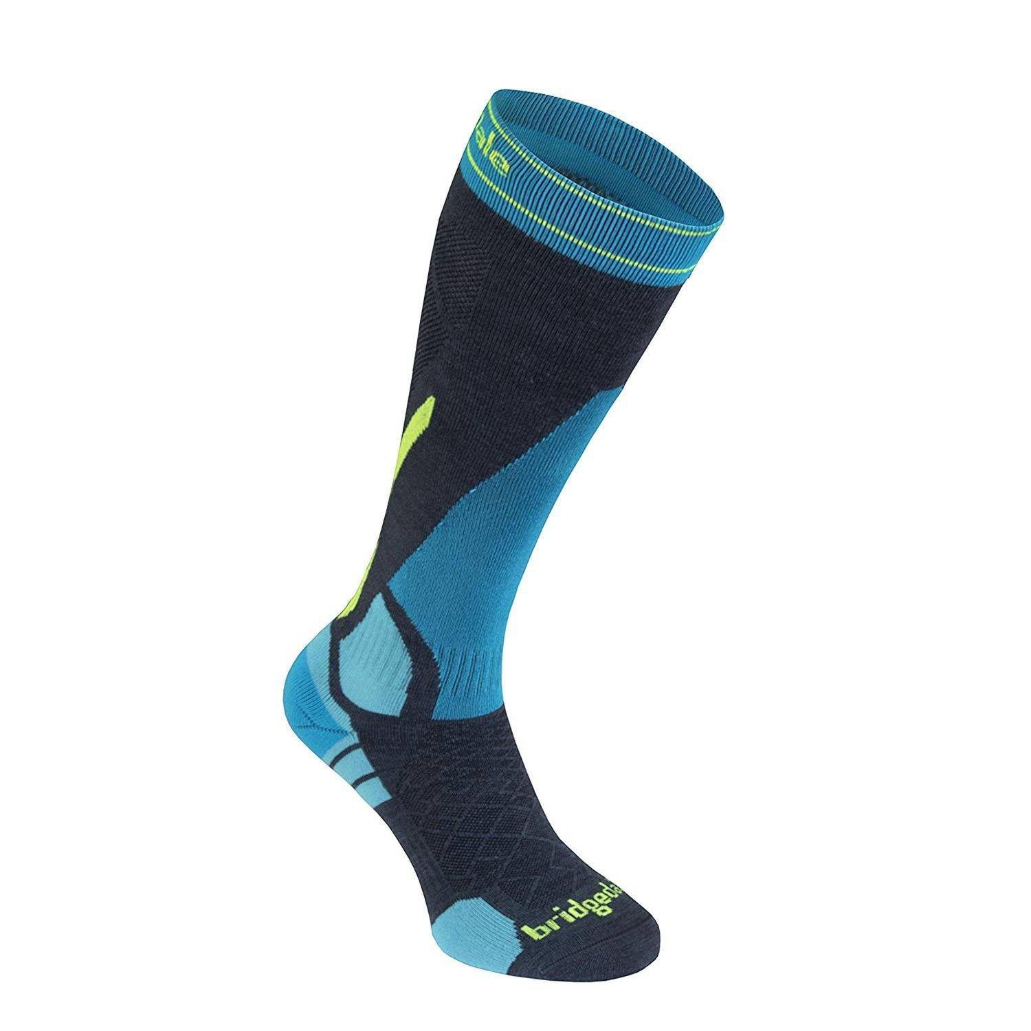 Bridgedale Men Merino Fusion Ski Socks - Vertige Light (Charcoal/Blue)