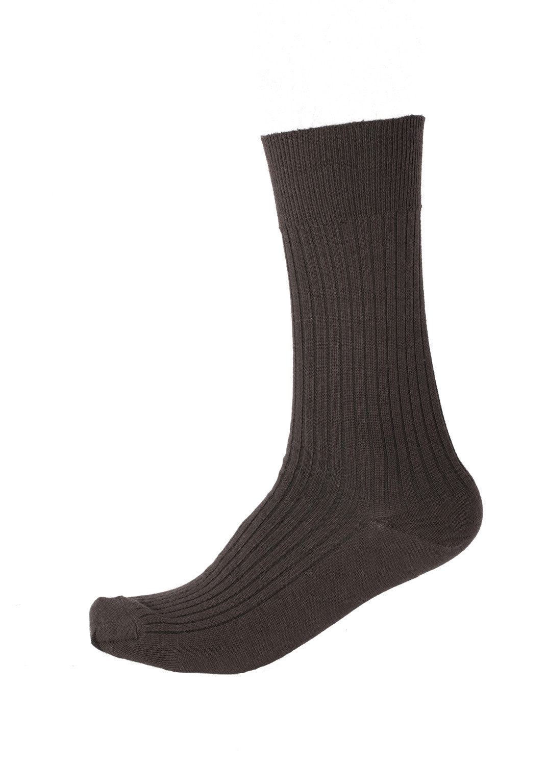 Pussyfoot Wool Non-Elastic Health Socks - Brown