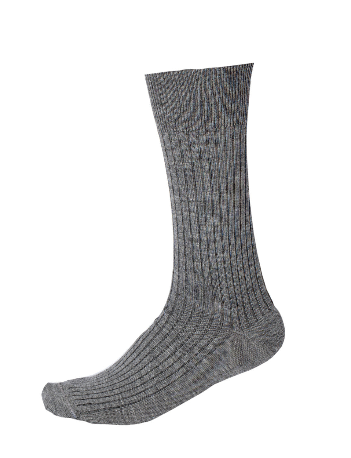 Pussyfoot Wool Non-Elastic Health Socks - Mid Grey