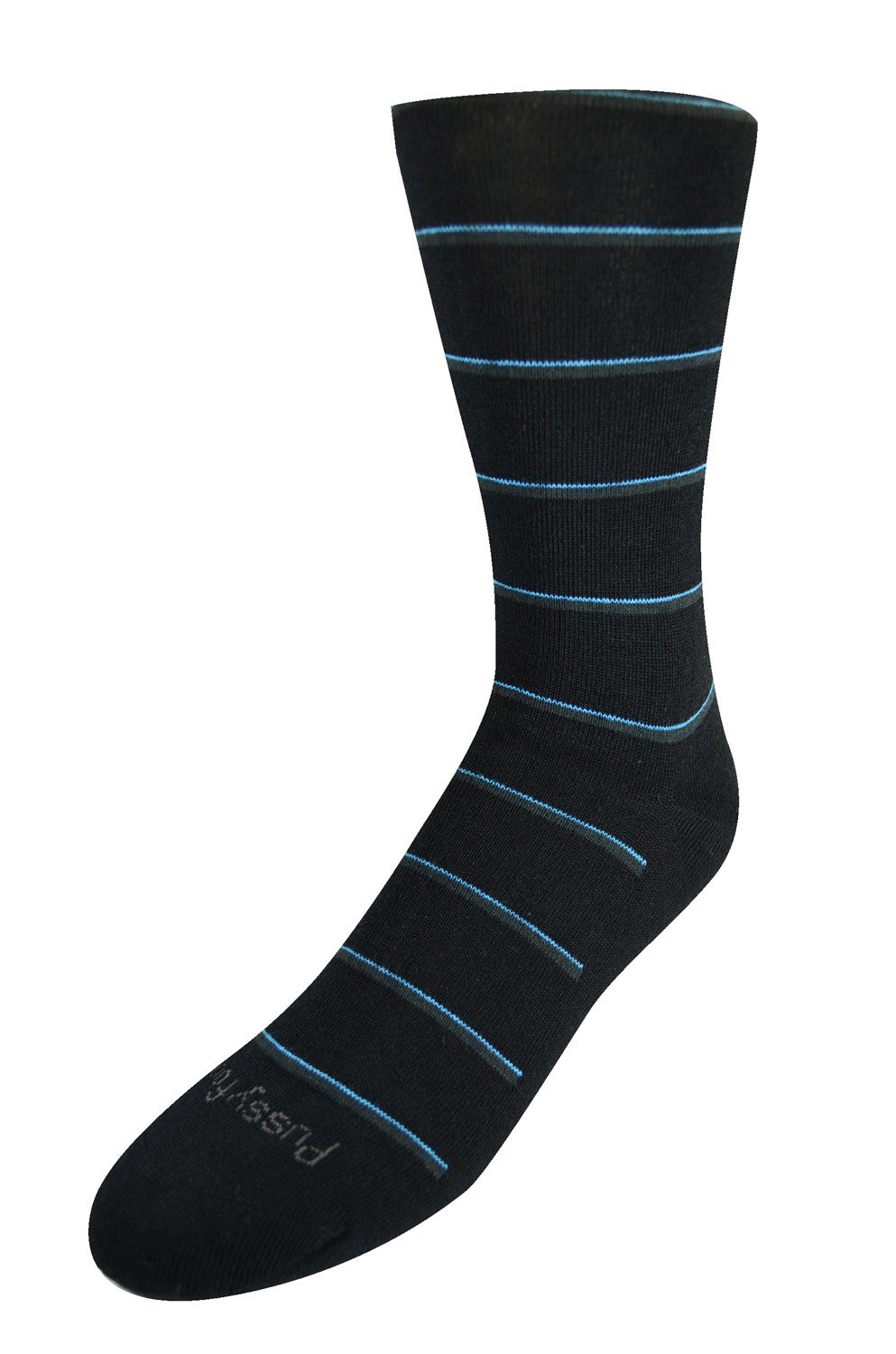 Pussyfoot Wool Non-Elastic Health Socks - Black Stripe