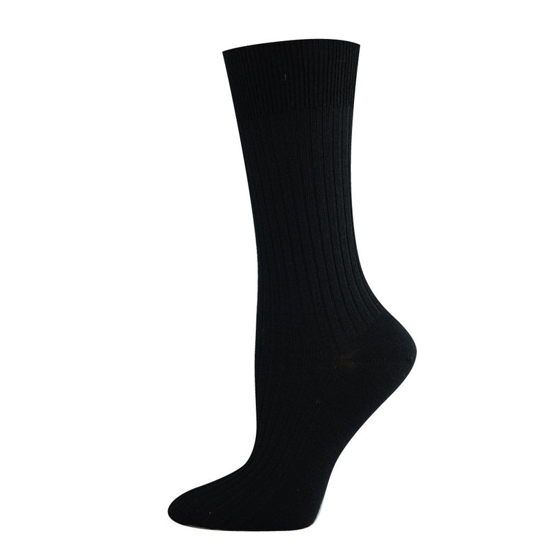 Pussyfoot Women's Non-Tight Merino Socks - Black