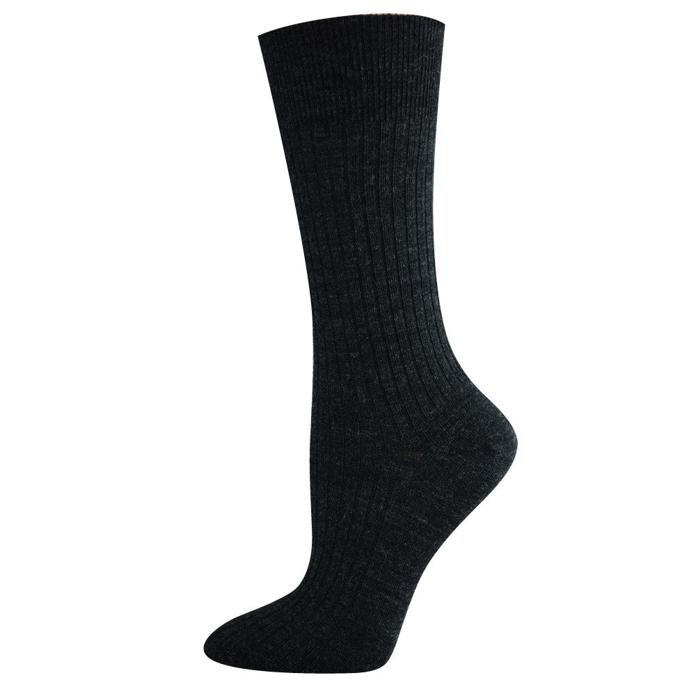Pussyfoot Women's Non-Tight Merino Socks - Charcoal