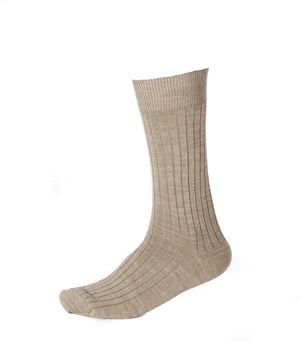 Pussyfoot Wool Crew Socks - Beige