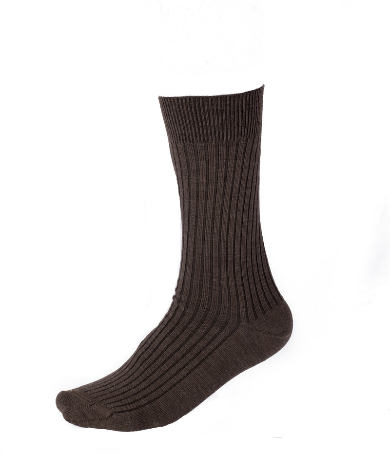 Pussyfoot Merino Wool Crew Socks - Brown