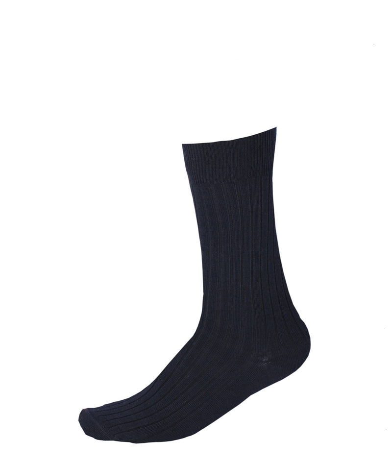 Pussyfoot Merino Wool Crew Socks - Navy