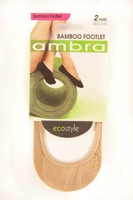 Ambra Bamboo Footlets (2 Pack)