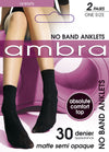 Ambra 'No Band' Anklet Socks (2 Pack)