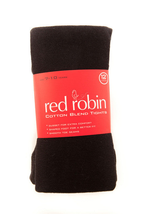 Red Robin Girl's School Tights Black